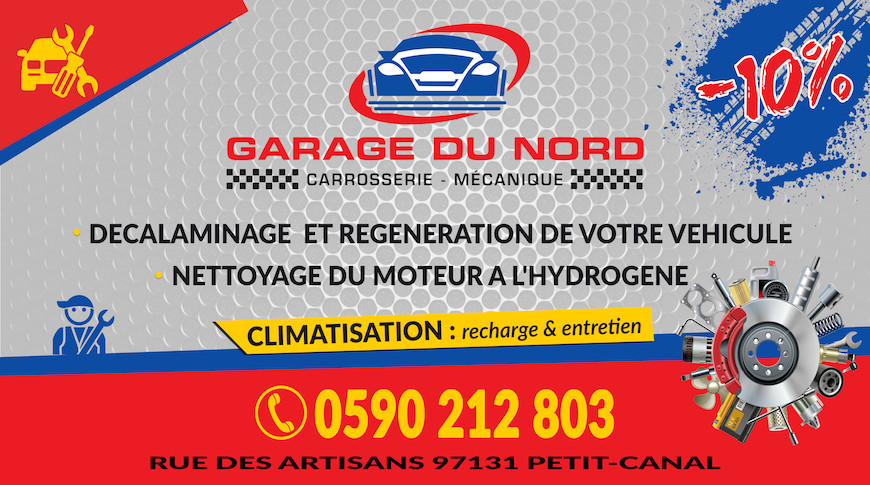 Garage du nord à Petit-Canal
